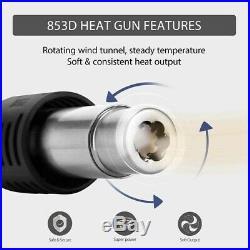 3in1 853D Rework Soldering Station Hot Air Gun + Solder Iron+ DC Power Supply