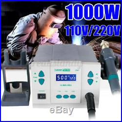 861DW 1000W High Power Hot Air Soldering Rework Station with3 Nozzles 220V