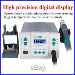 861DW 1000W High Power Hot Air Soldering Rework Station with3 Nozzles 220V 110V
