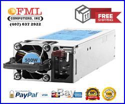 HP 720478-B21 754377-001 500W Flex Slot Platinum Hot Plug Power Supply